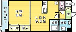 サンライズK[3階]の間取り