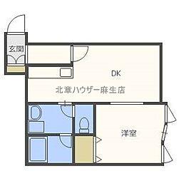 クナ・アルタ[2階]の間取り