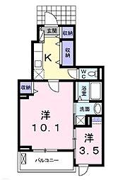 ファーストハイツ[1階]の間取り