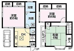 [テラスハウス] 神奈川県横浜市南区六ツ川3丁目 の賃貸【/】の間取り