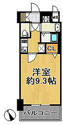 JR大阪環状線 西九条駅 徒歩4分の賃貸マンション 3階1Kの間取り