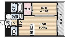 フェアソレイユ 1階1LDKの間取り
