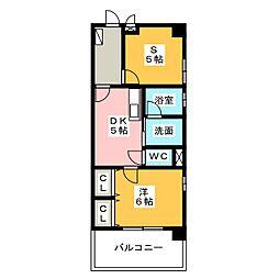 愛知県名古屋市西区城西4丁目の賃貸マンションの間取り