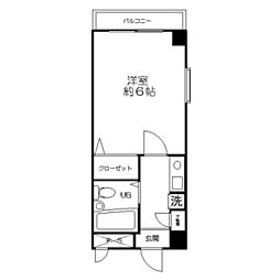 ハイツアオキ第3 bt[5階]の間取り