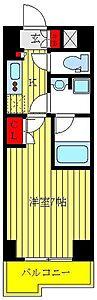 間取り,1K,面積25.42m2,賃料7.8万円,都営三田線 高島平駅 徒歩6分,都営三田線 新高島平駅 徒歩13分,東京都板橋区高島平8丁目