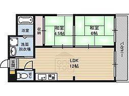 新栄プロパティー千林2[2階]の間取り