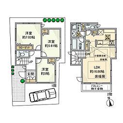 [一戸建] 東京都杉並区南荻窪3丁目 の賃貸【/】の間取り