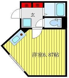 the SUGAMO 4階ワンルームの間取り