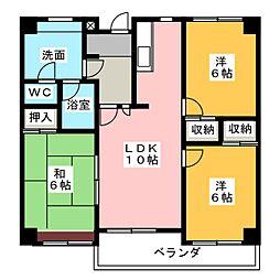 エクセルヤマキ[5階]の間取り