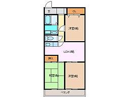 三重県四日市市新正1丁目の賃貸マンションの間取り