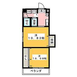 プレステージ名古屋[10階]の間取り