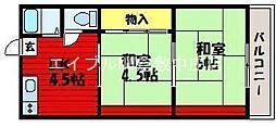 庭瀬センターコーポ[1階]の間取り