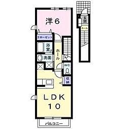 アバンツァ−ト社台[2階]の間取り