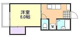 岡山県倉敷市日ノ出町1丁目の賃貸アパートの間取り