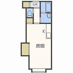 北海道札幌市東区北三十五条東14丁目の賃貸アパートの間取り