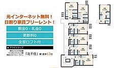 東京都足立区千住柳町の賃貸アパートの間取り