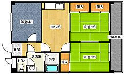 福岡県北九州市八幡西区萩原3丁目の賃貸マンションの間取り