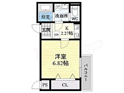 Fstyle天美東1号館 3階1Kの間取り
