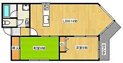 コーポ千代[2階]の間取り