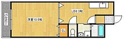 オーシャン日吉II[6階]の間取り