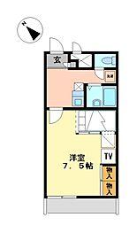 兵庫県加西市北条町古坂5の賃貸アパートの間取り