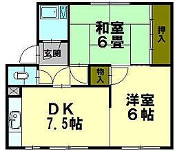 白菊マンション[725号室]の間取り