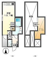 Lucia Hills(ルチアヒルズ)[2階]の間取り