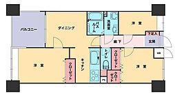 サーパス大博通り[10階]の間取り