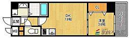 パウリスター 8階1DKの間取り
