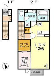 ルイティアII[2階]の間取り