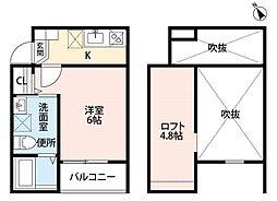 エクステンションY[2階]の間取り