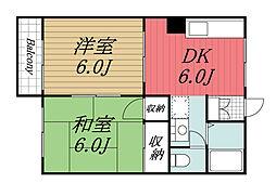 千葉県成田市並木町の賃貸アパートの間取り