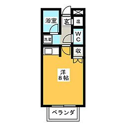 ドーム高峯[2階]の間取り