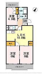 神奈川県藤沢市本鵠沼2丁目の賃貸マンションの間取り