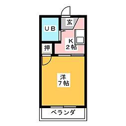 タウニーノーブル[1階]の間取り