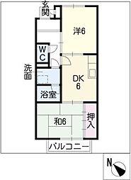 サープラスII雲雀[2階]の間取り