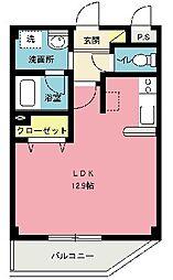 エクスバル・Wing[202号室]の間取り