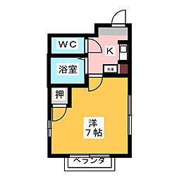 コーポT・Y[2階]の間取り