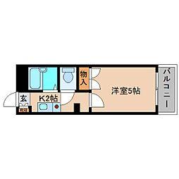奈良県大和高田市西三倉堂の賃貸マンションの間取り
