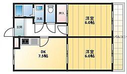 PALMIZIO(パルミッツォ)鶴橋[5階]の間取り