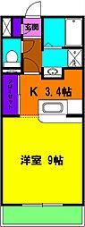 静岡県浜松市浜北区西美薗の賃貸マンションの間取り