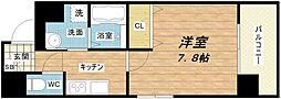 大阪府大阪市中央区龍造寺町の賃貸マンションの間取り