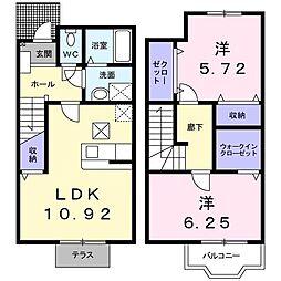レジデンスリリー A[1階]の間取り