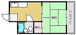 コーポキシノ[2階]の間取り