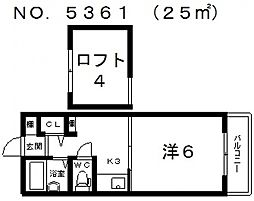 AS住吉マンション[306号室号室]の間取り