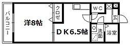 静岡県浜松市北区東三方町の賃貸マンションの間取り