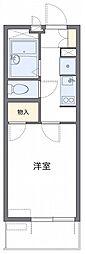 西武新宿線 新狭山駅 徒歩2分の賃貸マンション 2階1Kの間取り