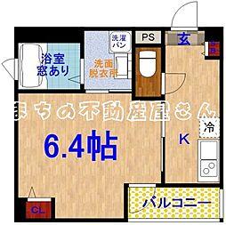 プライムコート太子橋[2階]の間取り