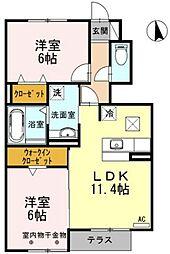 Comfort Terrace[103号室]の間取り