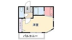 プチシャルマン甲子園[301号室]の間取り
